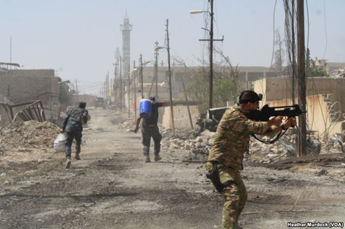 Iraqi troops offensive against ISIS in Mosul