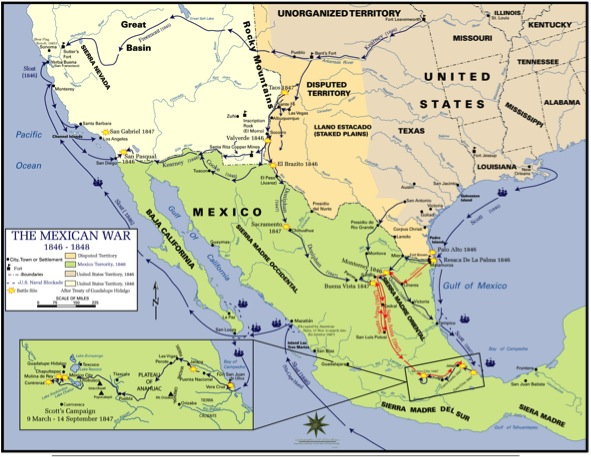 The Birth Of American Operational Art Winfield Scotts Mexico - Us map mexican war