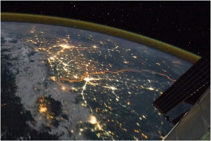 India-Pakistan border as seen from space, NASA