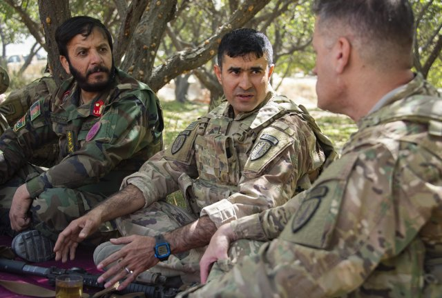 afghan born soldier returns home to be advisor with the 1st security